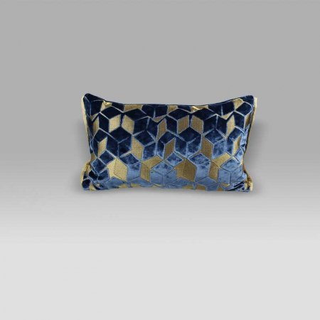 Cuscino 50x30 Fitzrovia Cerulean blu Designers Guild