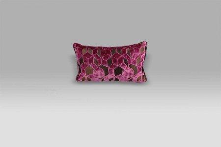 Cuscino 50x30 Fitzrovia Damson viola vinaccia Designers Guild