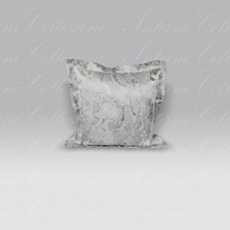 Cuscino Palais Finto Marmo grigio argento Mastro Raphael