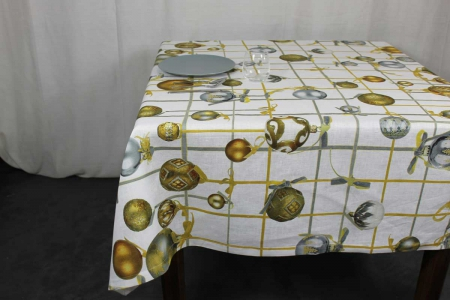 Tovaglia Golden Jingle Tessitura Toscana Telerie