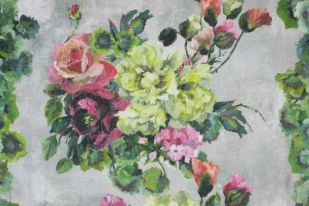 Plaid Grandiflora Rose Epice Designers Guild