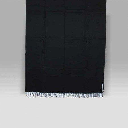 Plaid Hybis nero lana vergine cashmere seta Cecchi e Cecchi