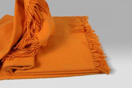 Plaid Puro Cashmere arancione Selana