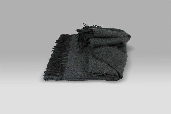 Plaid Puro Cashmere grigio antracite Selana
