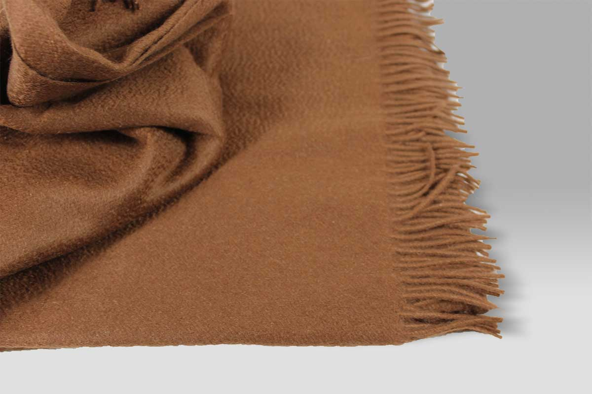 Plaid Puro Cashmere marrone chiaro Selana