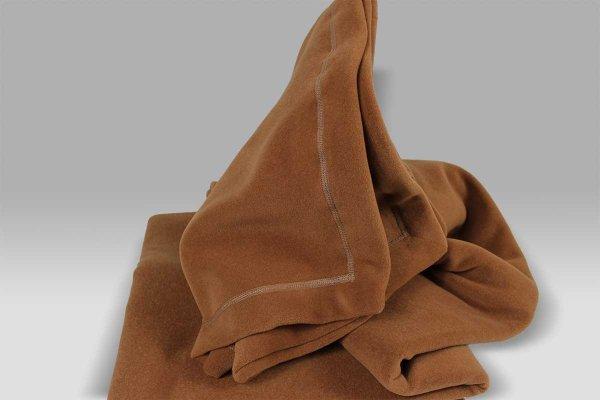 Plaid Tre Aghi Pile marrone chiaro Selana