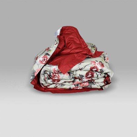 Trapunta Bellapiuma Classic Winter 17082A-F1 fiore rosa-rosso Daunen Step