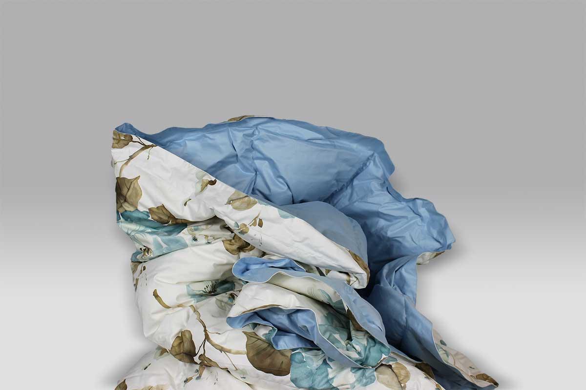 Trapunta Bellapiuma Classic Winter 17084B-F1 stampa floreale azzurro Daunen Step
