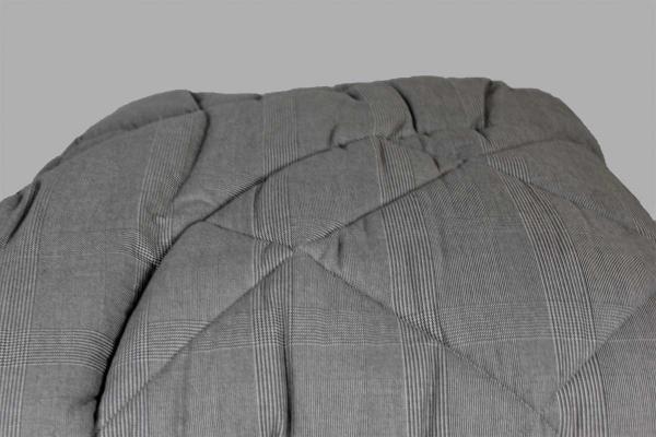 Trapunta Flanella55 scozzese grigio Dea