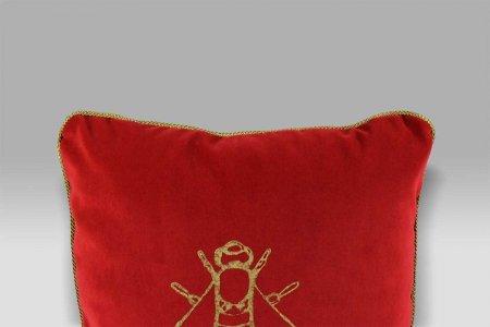 Cuscino 45x45 Gregory Ape Ali contorno rosso Mastro Raphael