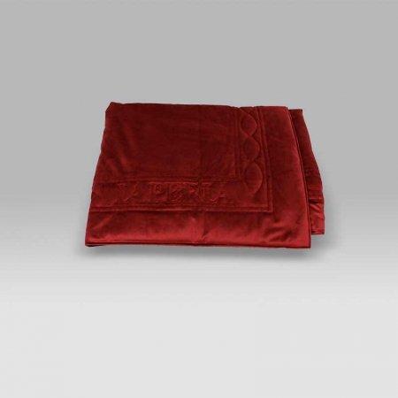 Plaid trapuntato Velluto rosso La Perla