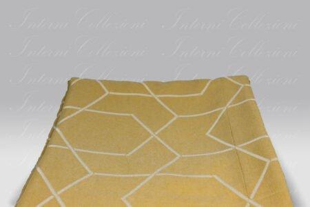 Copriletto Geom giallo-bianco Micol