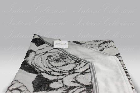 Copriletto Rose nero David Home Collection