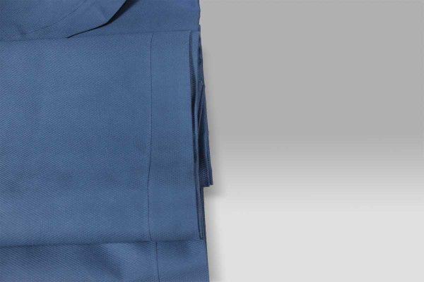Copriletto in Piquet leggero a Nido Ape piccolo blu singolo Mastro Raphael