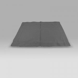 Set 4 Sottopiatti in Cotone Panama con Bordo Ajour grigio scuro Mastro Raphael
