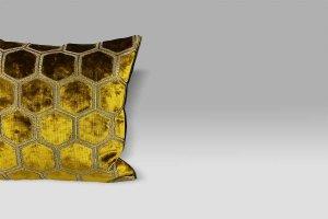 Cuscino 43x43 Manipur Ochre ocra Designers Guild