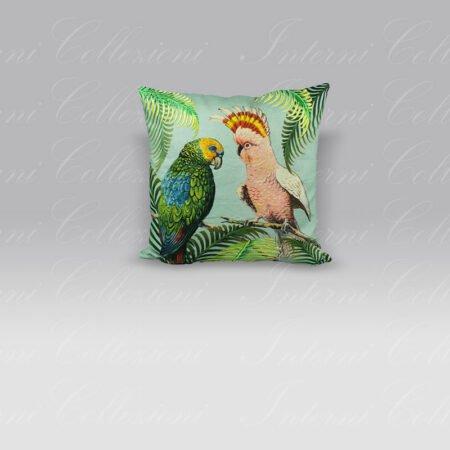 Cuscino Parrot and Palm Azure John Derian