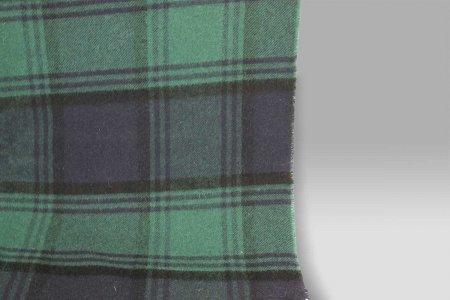 Plaid 135x180 Lambswool blu-verde Cecchi e Cecchi