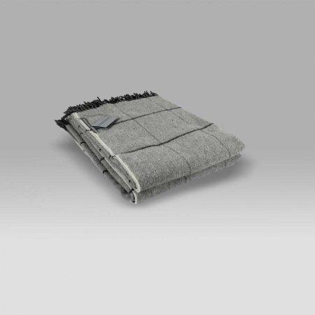 Plaid 135x180 Scozia 345 quadri grigio Cecchi e Cecchi