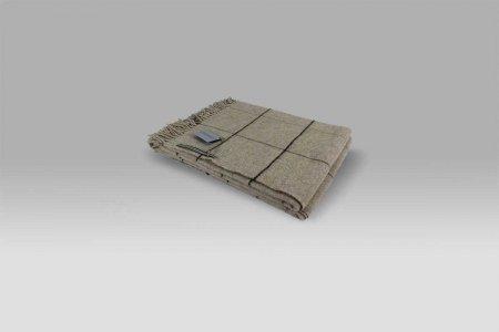 Plaid 135x180 Scozia 345 quadri tortora Cecchi e Cecchi