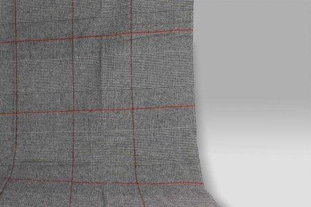 Plaid 135x180 Scozia 431 grigio-rosso Cecchi e Cecchi