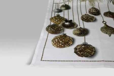 Canovaccio Glitter oro Tessitura Toscana Telerie