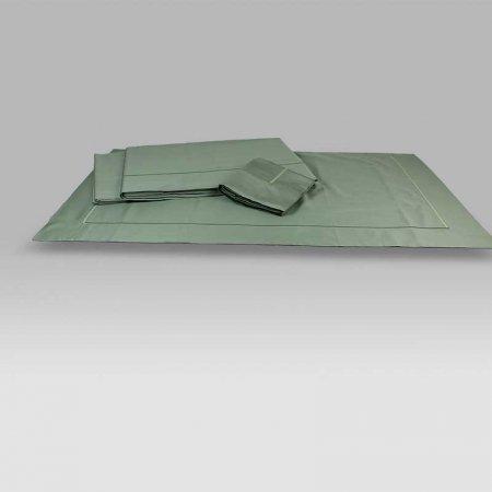 Completo Lenzuola BeB bacchettina verde scuro Mastro Raphael