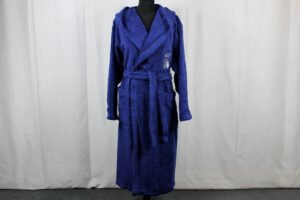 Accappatoio Api Percalle Bath Lines blu Mastro Raphael