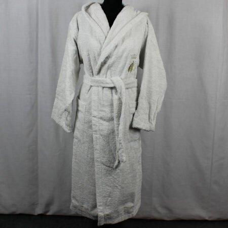 Accappatoio Api Percalle Bath Lines grigio chiaro Mastro Raphael