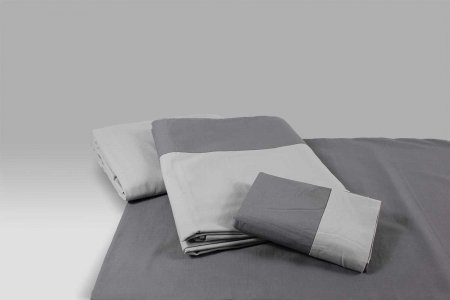 Completo Lenzuola Glam grigio chiaro-grigio scuro Dea