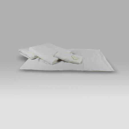 Completo Lenzuola Marea lino bianco Dea