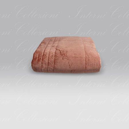 Quilt Karam velluto damasco rosa antico Agostini
