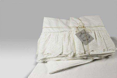 Completo Lenzuola Madeleine bianco Opificio dei Sogni