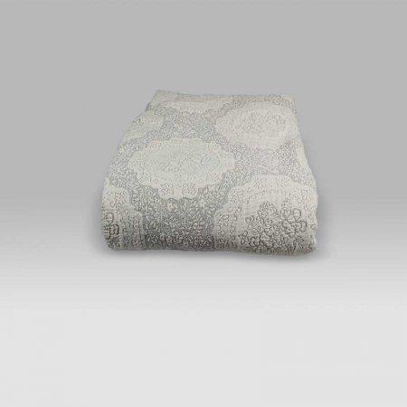 Copriletto Gobelin bianco-grigio La Perla