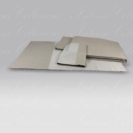 Completo Copripiumino Silver Shade neutro Dea