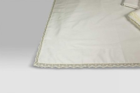 Completo Lenzuola Puntina latte David Home Collection