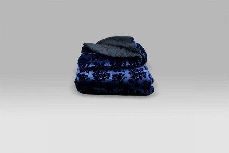 Trapunta Velluto Imperiale blu Micol