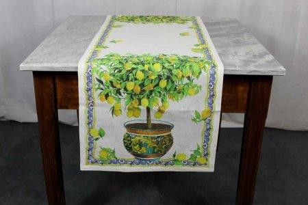 Runner Limonaia Tessitura Toscana Telerie