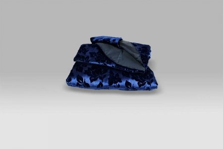 Quilt Velluto Imperiale blu Micol