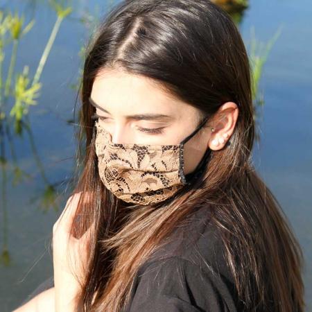 Mascherina Brigitte marrone Opificio dei Sogni