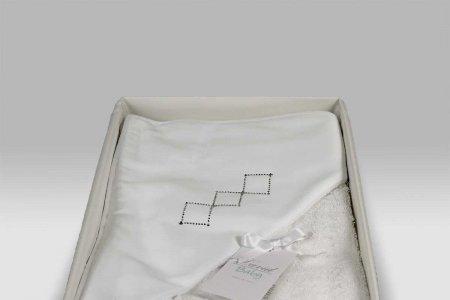 Accappatoio Triangolo Baby Cornice Geometrica bianco David Home Collection Baby