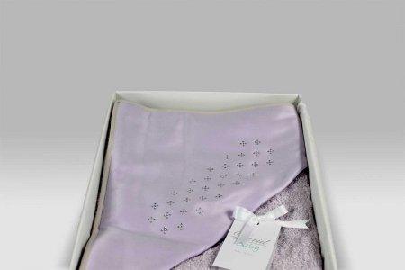 Accappatoio Triangolo Baby Fiore glicine David Home Collection Baby