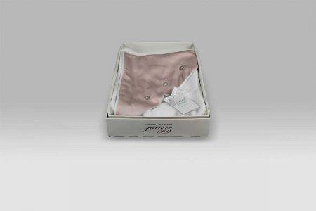Accappatoio Triangolo Baby Principessa bianco rosa David Home Collection Baby