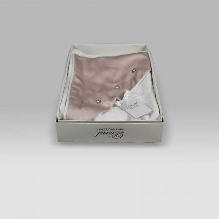 Accappatoio Triangolo Baby Principessa bianco rosa David Home Collection Baby