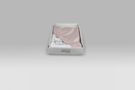 Accappatoio Triangolo Baby Punti Luce bianco rosa David Home Collection Baby