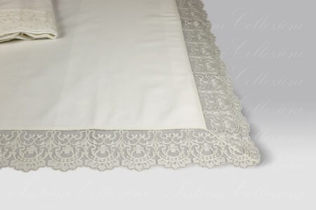 Completo Lenzuola Adele latte David Home Collection