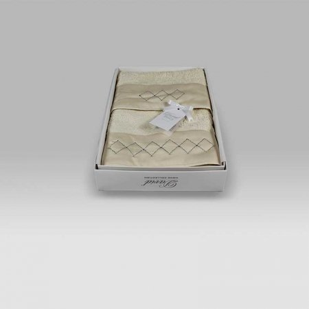 Coppia Spugna Baby Cornice Geometrica panna David Home Collection Baby