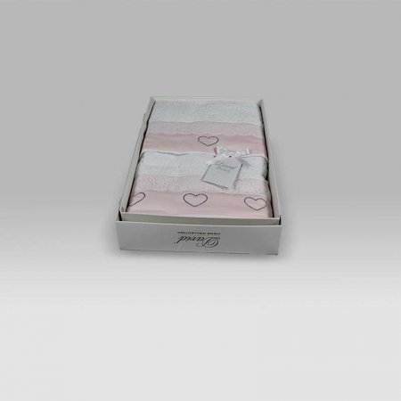 Coppia Spugna Baby Dolce Cuore bianco rosa David Home Collection Baby