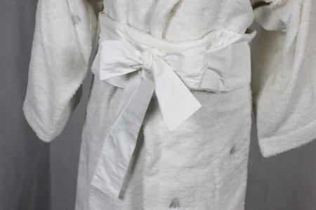 Accappatoio Api Bath linens Lungo bianco-avorio Mastro Raphael