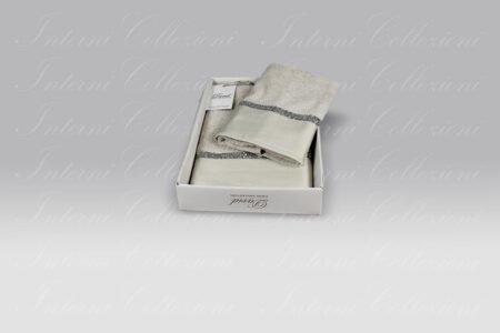 Coppia Spugna Lasvega grigio perla David Home Collection